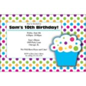 Cupcake Party  Personalized Invitations