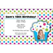 Cupcake Party  Custom Photo  Personalized Invitations