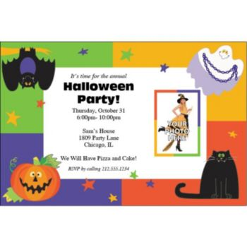 Friendly Frights Custom Photo Personalized Invitations