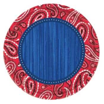 "Western Paisley  10 12"" Plates"