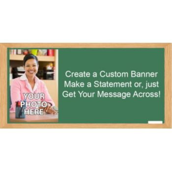 Chalkboard Custom Photo Banner