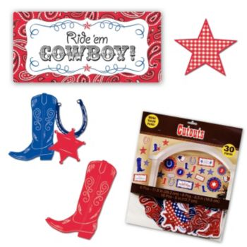 Western Bandana  Cutout Value Pack