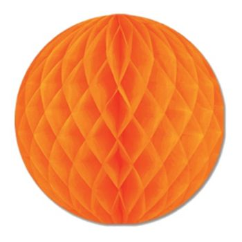 "Orange Honeycomb 12""  Tissue Ball"