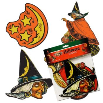 Classic Halloween 4 Pack Cutouts