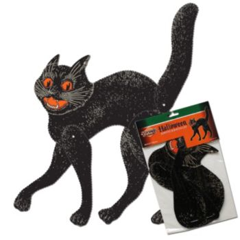 Classic Black Cat  Jointed Cutout