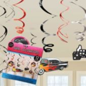 50's Swirl Decorations-12 Per Unit