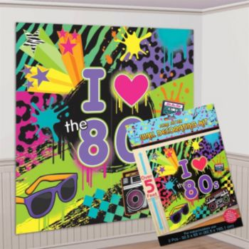 Awesome 80's  Wall Decorating Kit