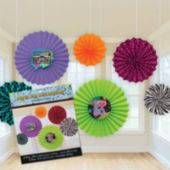 80's Retro Awesome Fan Decorations-6 Pack