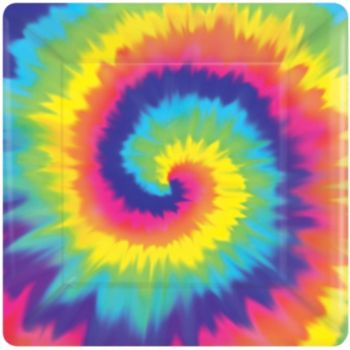"Feeling Groovy  7"" Square Plates"