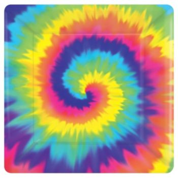 "Feeling Groovy  10"" Square Plates"