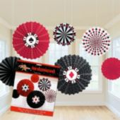 Casino Hanging Fan Decorations-6 Per Unit