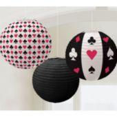 Casino Paper Lanterns-3 Pack