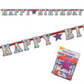 Birthday Ribbons Letter Banner