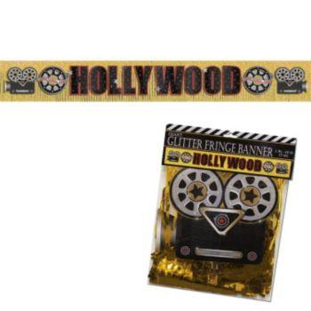 Hollywood Glitter  Fringe Banner