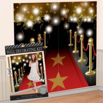 Red Carpet Wall  Decorating Kit