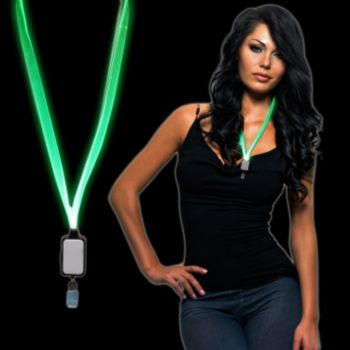 Green LED Light Up Lanyard
