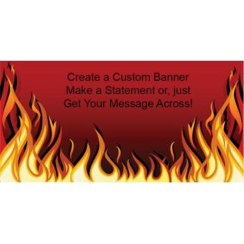 Red Hot Flames Custom Banner