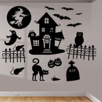 Haunted House  Vinyl Wall Art Kit
