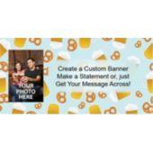 Beer And Pretzels Custom Photo Banner