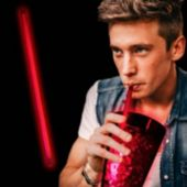 """Red Glow Straws-9""""-25 Pack"""