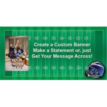 Football Field Custom Photo Banner Variety of Sizes
