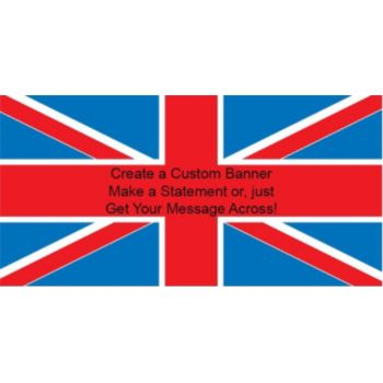 United Kingdom Flag Custom Banner
