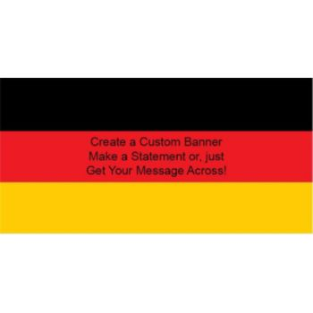 German Flag Custom Banner