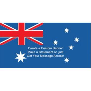 Australian Flag Custom Banner