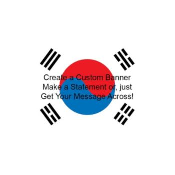 South Korean Flag Custom Banner