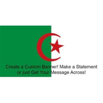 Algerian Flag Custom Banner