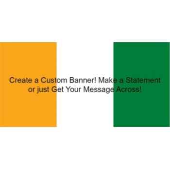 Ivory Coast Flag Custom Banner