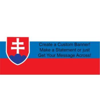 Slovakia Flag Custom Banner