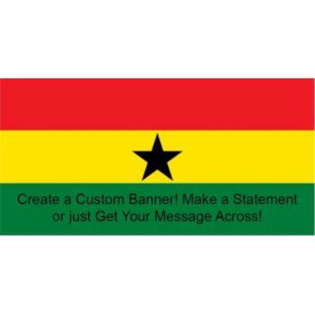 Ghana Flag Custom Banner
