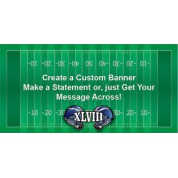 Super Bowl XLVIII Football Helmets Custom Banner