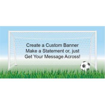 Soccer Score Custom Banner