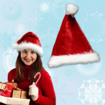 Children's Deluxe Plush Santa Hat