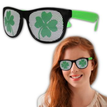 Neon Green Shamrock Billboard Sunglasses