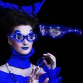 LED Blue Eyes Novelty Sunglasses