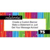 Custom Age Rainbow Birthday Custom Banner