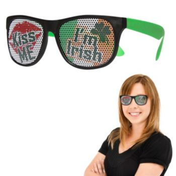 Neon Green Kiss Me I'm Irish Billboard Sunglasses