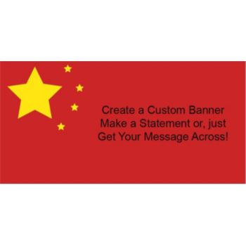 Chinese Flag Custom Banner