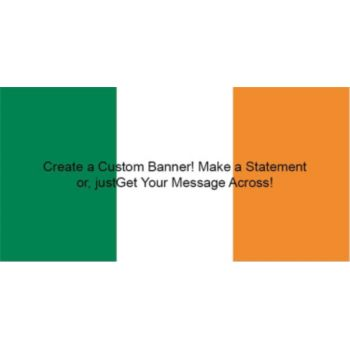 Irish Flag Custom Banner