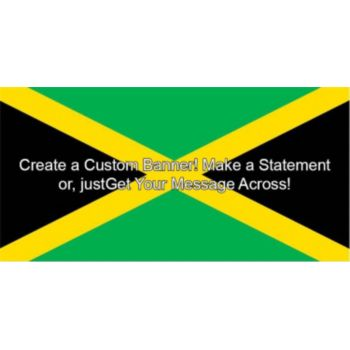 Jamaican Flag Custom Banner
