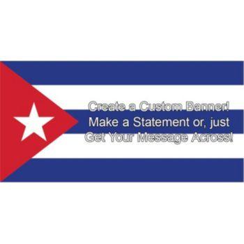 Cuban Flag Custom Banner