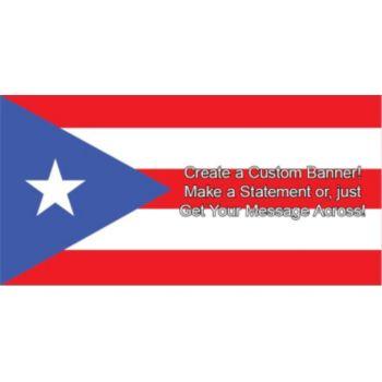 Puerto Rican Flag Custom Banner