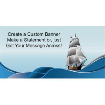 Nautical Sailing Ship Custom Banner