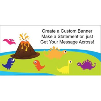 Dino Island Custom Banner