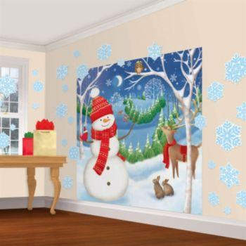Winter Friends Scene Setter Wall Decorating Kit