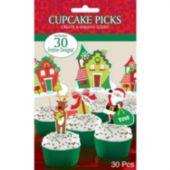 Christmas Cupcake Picks-30 Per Unit