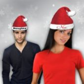 Naughty And Nice Santa Hat Set-2 Pack